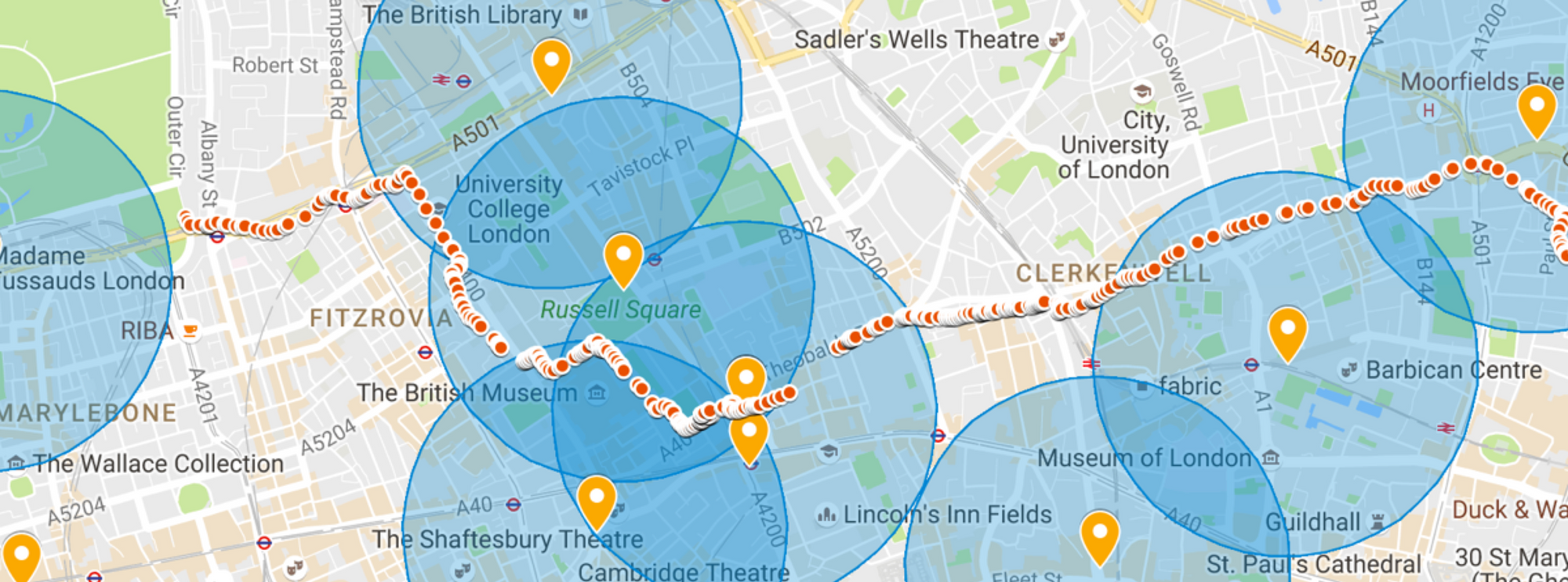 We added the data from a strava route and the London Air sites to see what we could infer